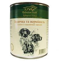 """Hubertus Gold (Хубертус Голд) Консервированный корм """"Индейка и вермишель"""" для активных собак, фото 1"""