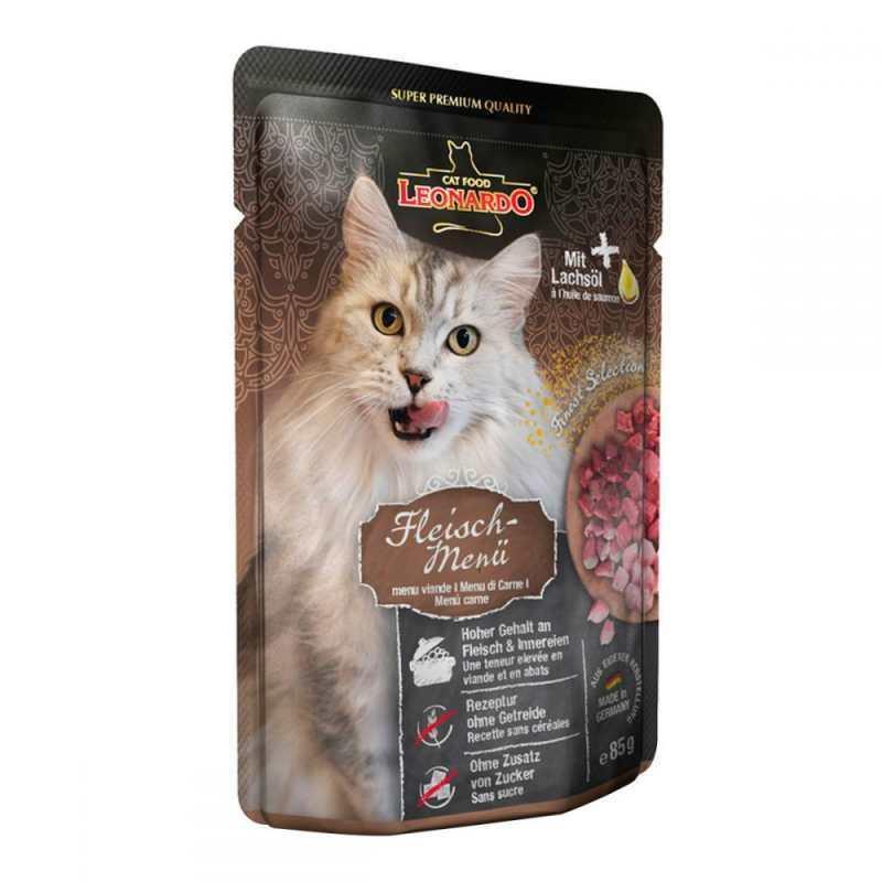 Leonardo (Леонардо) Finest Selection Meat Menu - Консервированный корм с мясом птицы и печенью для котов