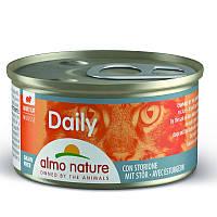 """Almo Nature (Альмо Натюр) Daily Menu Cat - Консервированный корм """"Мусс с осетром"""" для кошек"""