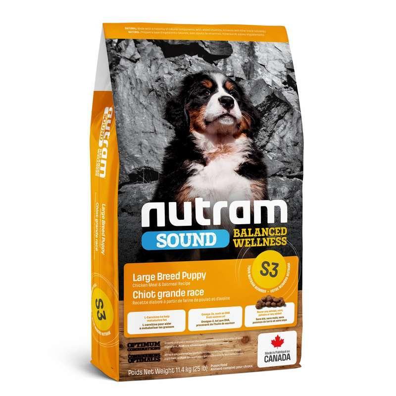 Nutram (Нутрам) S3 Sound Balanced Wellness Puppy Large Breed - Сухой корм с курицей для щенков крупных пород