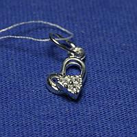 Кулон Сердце в серебре с мелкими фианитами 3887-р