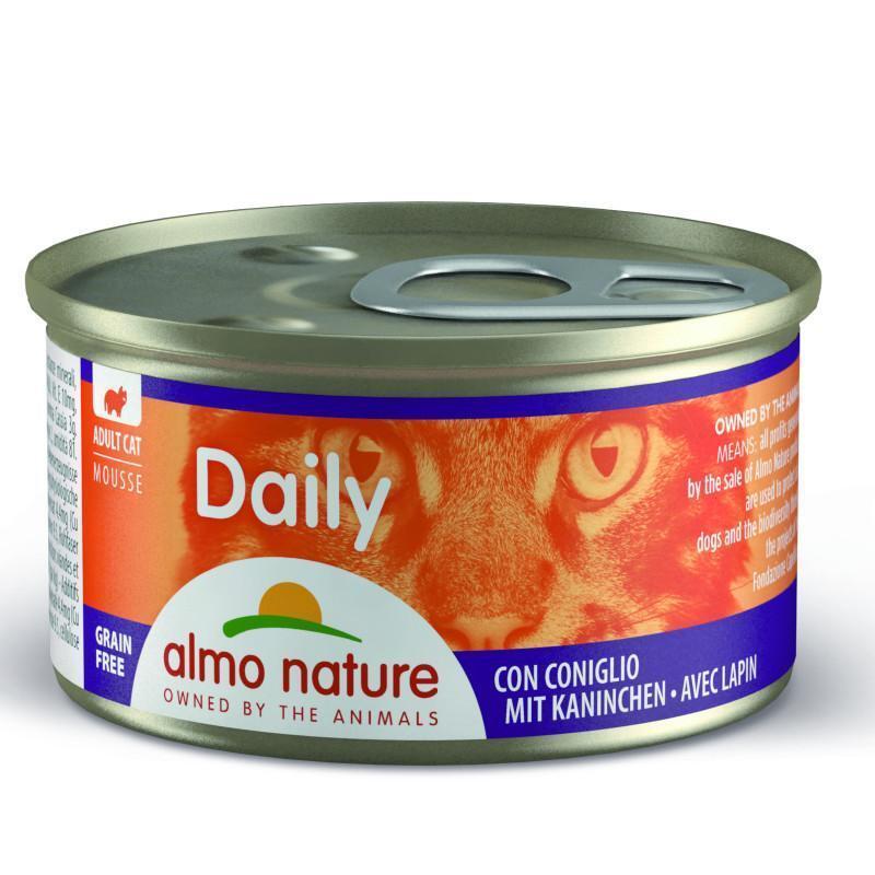 """Almo Nature (Альмо Натюр) Daily Menu Cat - Консервированный корм """"Мусс с кроликом"""" для кошек"""