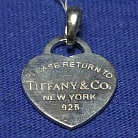 Серебряный кулон Сердце Тиффани 37807-р