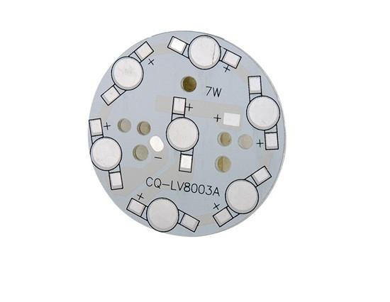 Плата алюминиевая (подложка) для 7-и светодиодов 1-3 Вт, 49mm