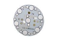 Плата алюминиевая (подложка) для 7-и светодиодов 1-3 Вт, 49mm, фото 1