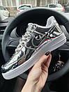 Кроссовки женские Nike Air Force 1 Metallic Silver, фото 5