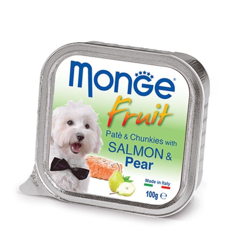 Monge (Монж) DOG FRUIT - Нежный паштет с лососем и кусочками груши для собак