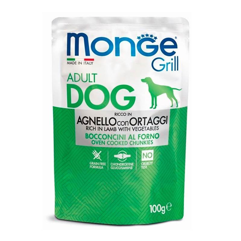 Monge (Монж) Dog Grill Agnello Ortaggi - Консервированный корм с ягненком и овощами для взрослых собак