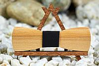 Галстук бабочка Классик слим из ясеня на шею под рубашки мужские