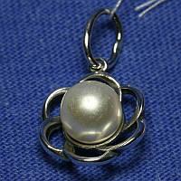 Женский серебряный кулон с жемчугом 4001