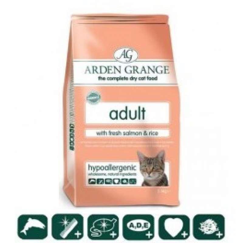 Arden Grange (Арден Грандж) Adult Cat Fresh Salmon & Rice - Сухой корм с лососем и рисом для взрослых (пожилых) кошек
