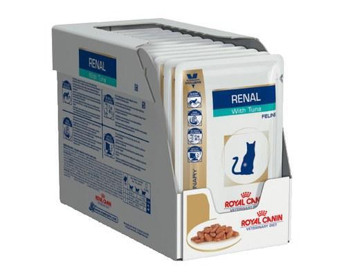 Royal Canin Renal Felin Tuna Pouches 85 гр упаковка 12 шт лечебный влажный корм (Роял Канин) Тунец