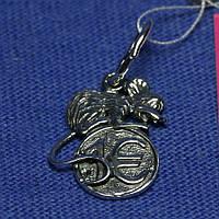 Подвеска из серебра 925 Мышка на монете 4007, фото 1