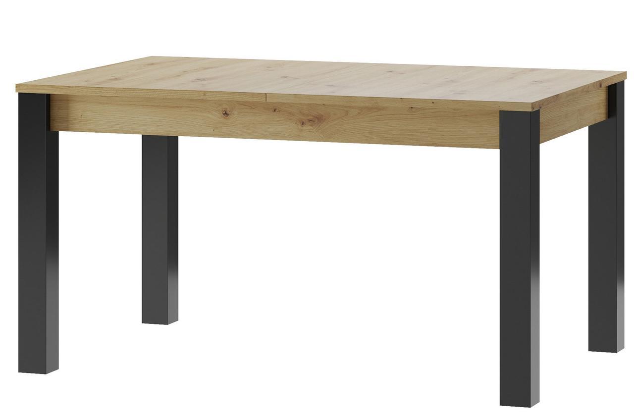 Стол обеденный деревянный  LUCAS 40 Szynaka дуб artisan/черный матовый