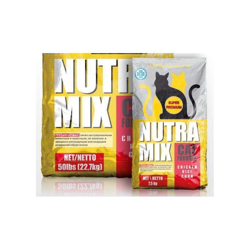 Nutra Mix (Нутра Микс) Maintenance Cat Formula - Сухой корм с курицей и кукурудзой для взрослых кошек со средней активностью