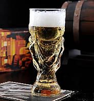 Бокал для пива в форме кубка мира по футболу 900мл подарок мужчине любителю пива футбольному фанату
