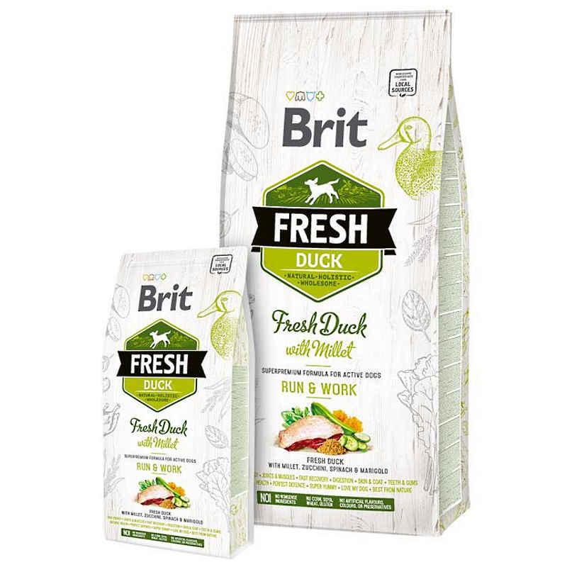 Brit (Брит) Fresh Duck With Millet Adult Run Work - Сухой корм с уткой и пшеном для взрослых собак