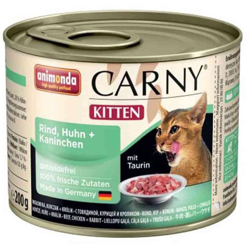 Animonda (Анимонда) Carny Kitten - Консервированный корм с говядиной, курицей и кроликом для котят (кусочки в соусе)