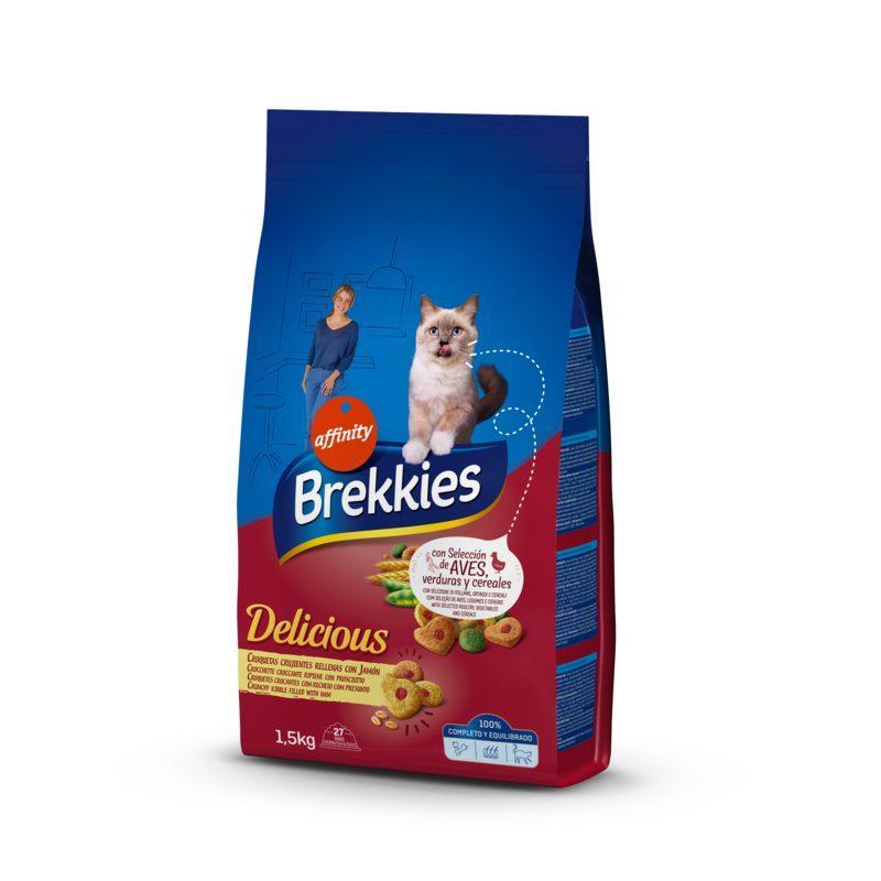 Brekkies (Брекис) Cat Delice Meat - Сухой корм с курицей, перепелкой и ветчиной для котов