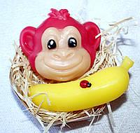 """Набор мыла ручной работы """"Мордашка обезьянки и банан"""""""