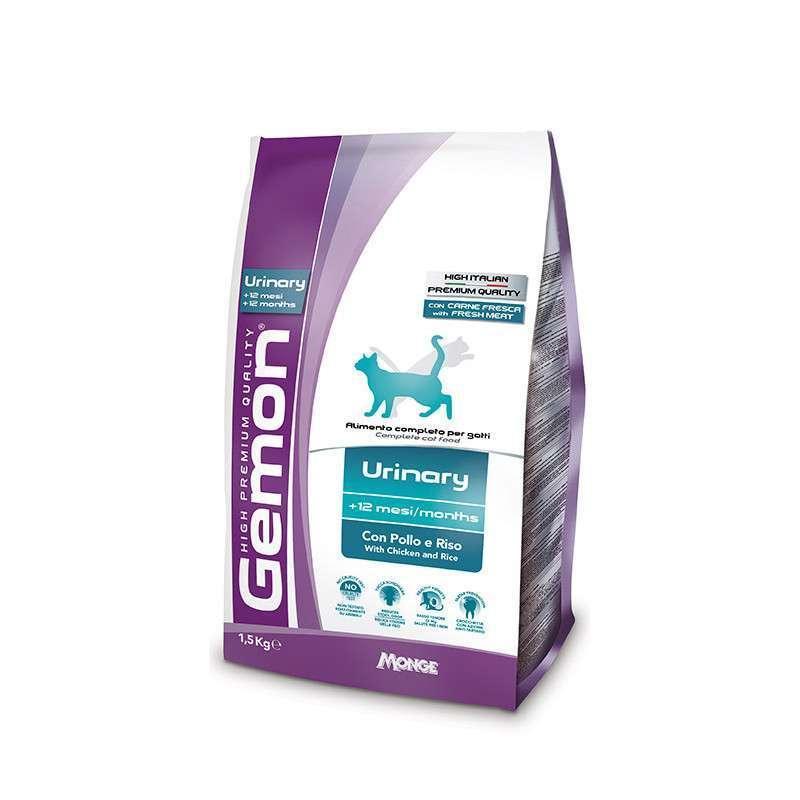 Gemon (Джемон) Urinary - Сухой корм с курицей и рисом для взрослых кошек, профилактика мочекаменной болезни