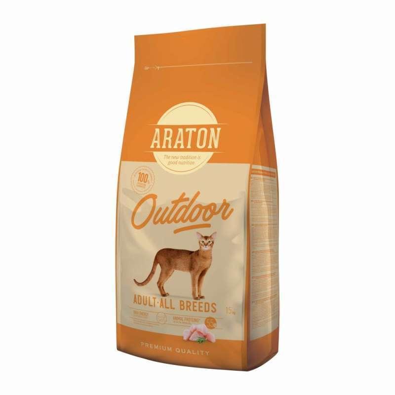 Araton (Аратон) Outdoor Adult All Breeds - Сухой корм с курицей и индейкой для взрослых активных котов