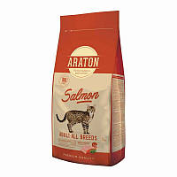 Araton (Аратон) Adult Salmon Adult All Breeds - Сухой корм с лососем и рисом для взрослых котов, фото 1