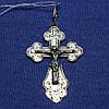 Серебряный крест с чернением Распятие 3020-ч