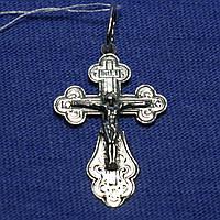 Серебряный крест с чернением Распятие 3020-ч, фото 1