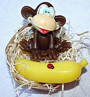 """Набор мыла ручной работы """"Смешная обезьянка и банан"""""""