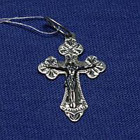 Серебряный крест с чернением и насечками 3559-ч, фото 1