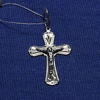 Нательный крест серебро ручной работы 3581-ч
