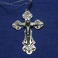 Мужской крест серебро нательный 3599-ч