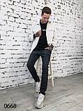 Мужские темно-серые джинсы 1-0668, фото 3