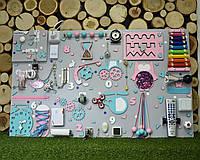 """Busyboard """"Гигант"""" 60х100 см бізіборд бизиборд развивающая доска розово-бирюзовыйБизиборд для дево для девочки"""