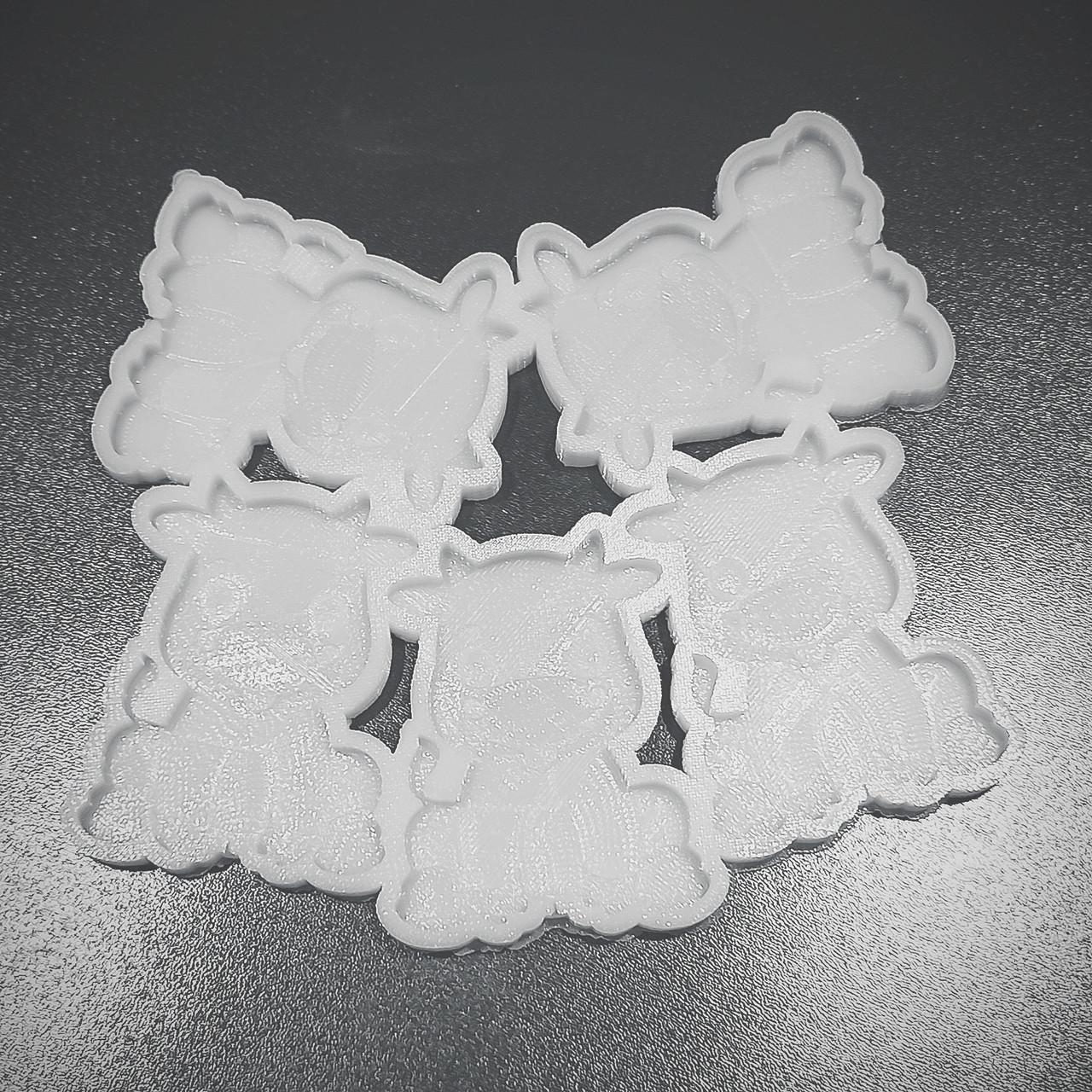 Силиконовый молд Коровка, бычок, символ года, 2021  для леденцов