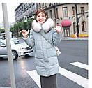 Женское полупальто пуховик модные куртки зима с капюшоном, цвет черный, размер, фото 3