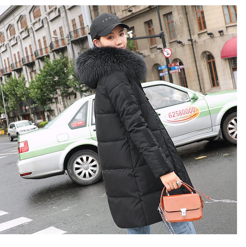 Женское полупальто пуховик модные куртки зима с капюшоном, цвет черный, размер
