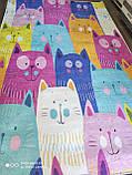 Коврик прямоугольный в детскую комнату Chilai Home Cats Renkli 140*190, фото 2