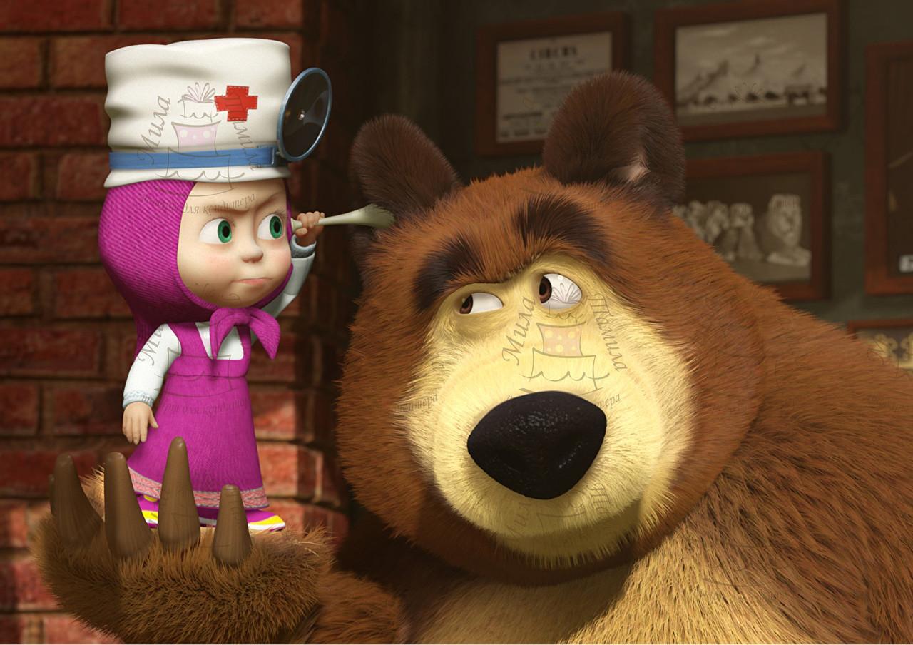 Вафельная картинка Маша и Медведь 47