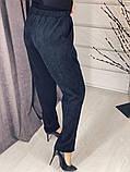 Брюки женские вельветовые серый, молоко, пудра, 42-44, 44-46, 48-50, фото 6