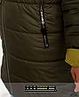 Стильна демісезонна подовжена куртка з капюшоном розміри:56-62, фото 4