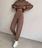 Женский костюм спортивный демисезонный. Размеры: S-М и M-L. Цвета: беж, шоколад, чёрный., фото 2