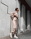 Женский костюм спортивный демисезонный. Размеры: S-М и M-L. Цвета: беж, шоколад, чёрный., фото 3