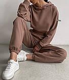 Женский костюм спортивный демисезонный. Размеры: S-М и M-L. Цвета: беж, шоколад, чёрный., фото 4