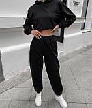 Женский костюм спортивный демисезонный. Размеры: S-М и M-L. Цвета: беж, шоколад, чёрный., фото 6