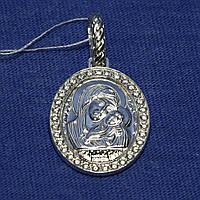 Серебряная нательная иконка Богоматерь Касперского 3737-р