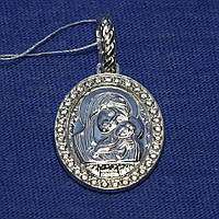 Серебряная ладанка Богоматерь Касперского 3737-р