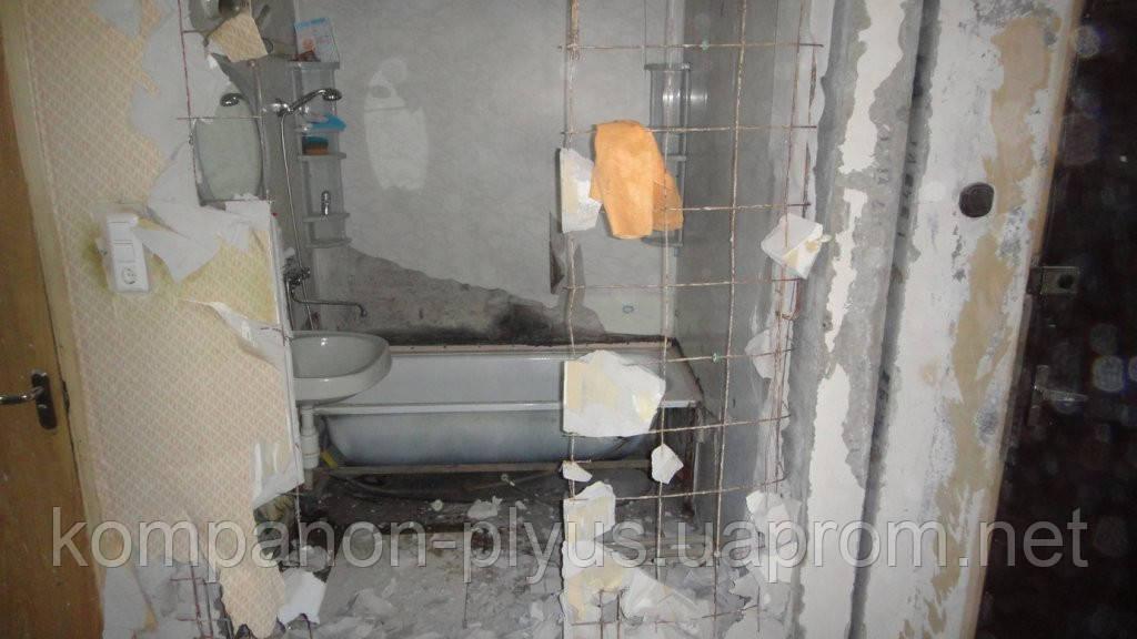 Демонтаж сантехкабін сантехблока Знесення сантехкабіни блоккомнаты