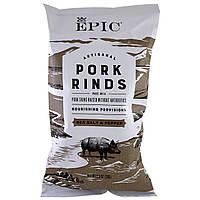ОРИГИНАЛ!Epic Bar,Свиные шкварки,сделанные вручную,с морской солью и перцем,70 грамм производства США